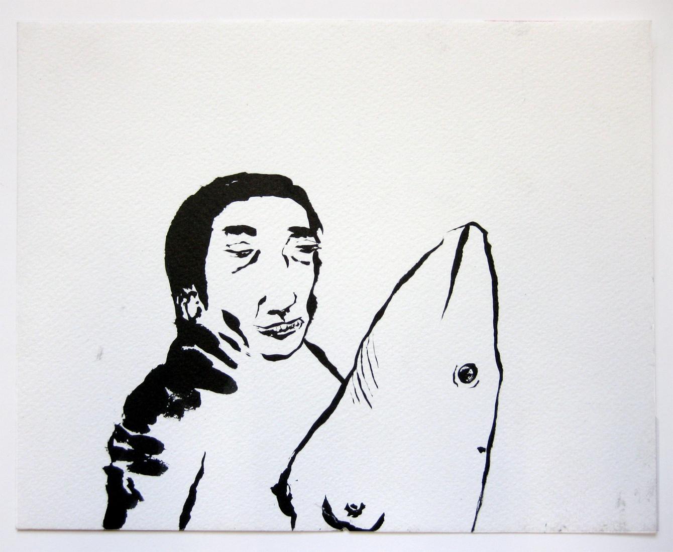 Man enjoying Dolphin with breast