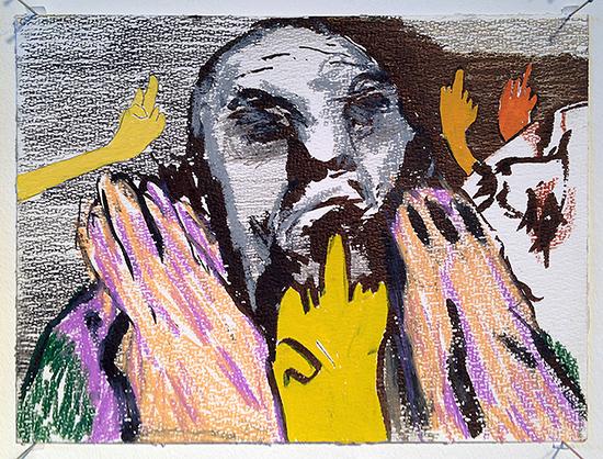 Man facing multiple middlefingers